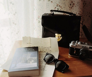vintage, book, and camera image