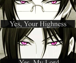 kuroshitsuji, anime, and sebastian image