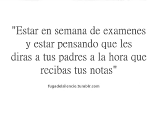 frases, escuela, and examen image
