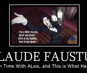 black butler, music, and claude faustus image