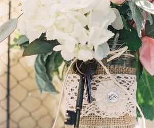 flowers, lace, and gem image
