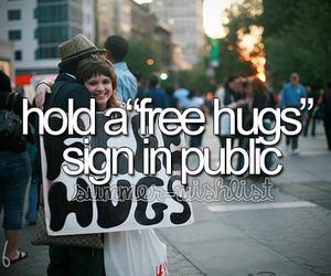 hug and bucket list image