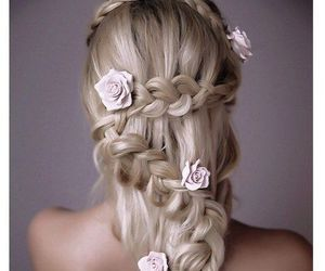 hair styles, wedding, and accessorize image