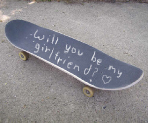 love, girlfriend, and skate image