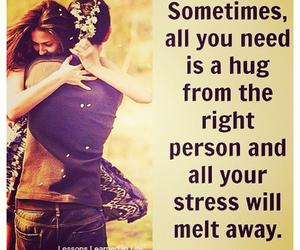 hug, kiss, and quote image
