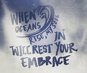 god, hillsong united, and oceans image