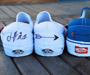 vans, blue, and her image