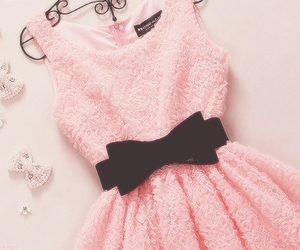 dress, pink, and black image