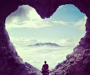 heart, sky, and nature image