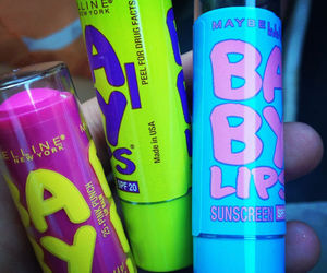 baby lips, Maybelline, and makeup image