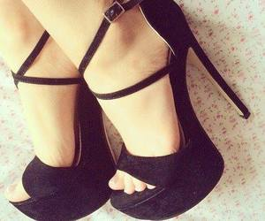 black, shoes, and talons image