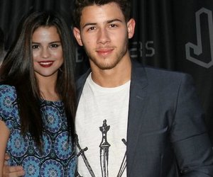 nick jonas, nelena, and selena gomez image