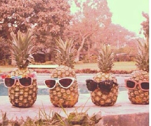 summer, pineapple, and sunglasses image