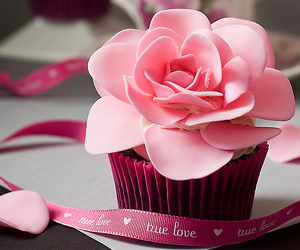 pink, cupcake, and flowers image
