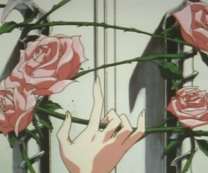 anime, rose, and aesthetic image