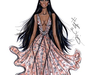 hayden williams, drawing, and Naomi Campbell image
