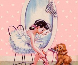 ballet, vintage, and dog image