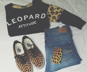 leopard, fashion, and vans image