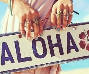 Aloha, dress, and rings image