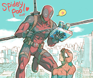 deapool and espiderman image