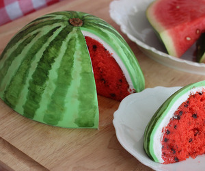 awesome, cake, and watermelon image