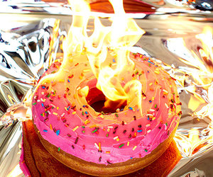 donuts and fire image