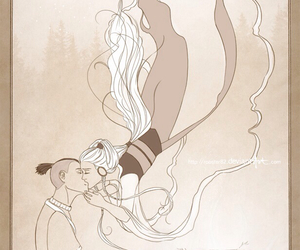 avatar, yue, and last airbender image