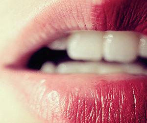 lips, lipstick, and pink image