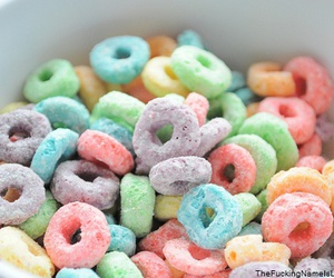 cereal, colorful, and yum image