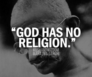 god, religion, and gandhi image