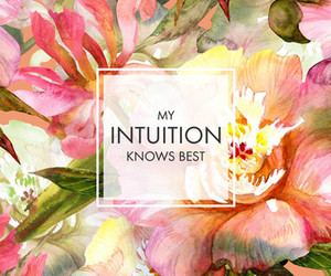flowers, intuition, and quote image