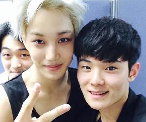 asian boy, kim jongin, and kkamjong image