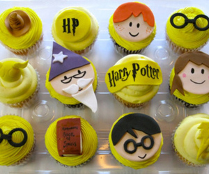 harry potter, cupcakes, and food image