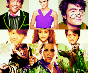 emma watson, fred and george, and harry potter image