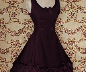 bows, girly, and cotton dress image