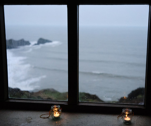 candle, sea, and ocean image