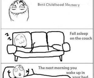 childhood, lol, and bed image