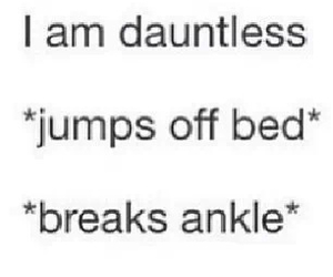 funny, dauntless, and divergent image