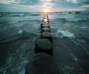 sea, stone, and beach image