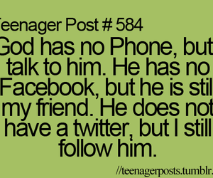 god, quote, and facebook image