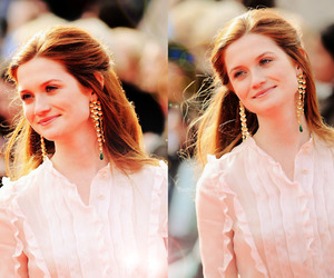 harry potter, bonnie wright, and hair image