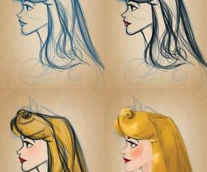 disney, draw, and sleeping beauty image