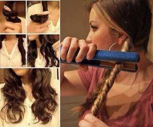 curls, diy, and iron image