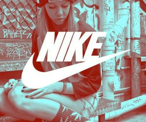 nike, girl, and swag image