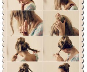 braid, bun, and fashionista image