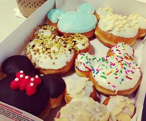 food, donuts, and disney image