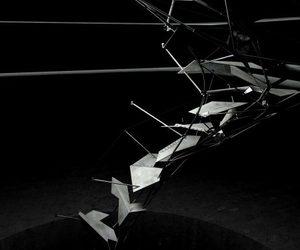 architecture, b&w, and cyberpunk image