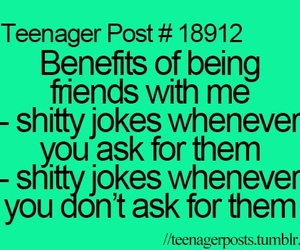 jokes, benefits, and life image