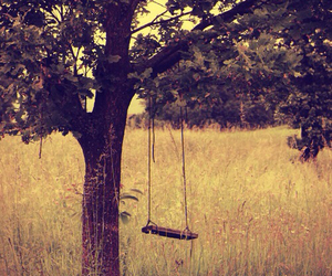 tree, swing, and nature image