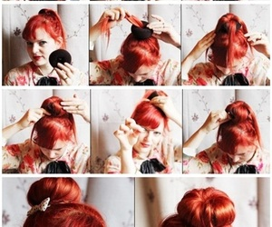 hair, hair tutorials, and red image